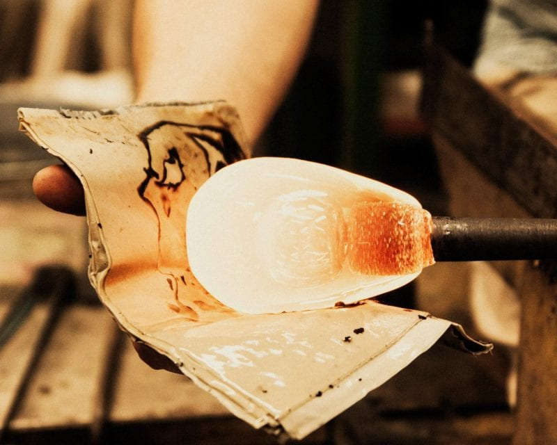 冬のガラス工房イメージ